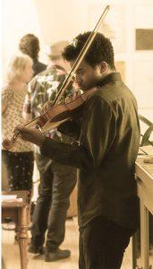 ryan field, violin at leon rooke salon
